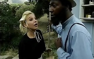 Several Amish studs have interracial sex with brunette added to fuck her ass
