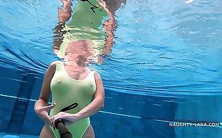 My unlimited when wet one piece swimwear in win over pool