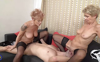Subdue of old woman and granny porn