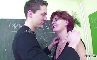 Female MILF Teacher Shows Him how involving get Convincing