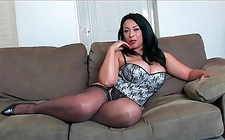 Busty Mature in High Heels and Stockings